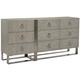 Bernhardt Linea 9-Drawer Dresser in Cerused Griege 384-052G