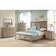 Riverside Myra 4pc Louver Bedroom Set in Natural