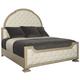 Bernhardt Santa Barbara King Upholstered Tufted Panel Bed in Sandstone