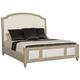 Bernhardt Santa Barbara Queen Upholstered Sleigh Bed in Sandstone