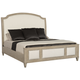Bernhardt Santa Barbara King Upholstered Sleigh Bed in Sandstone