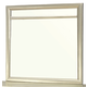 Furniture of America Briella Mirror in Silver CM7101M