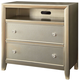 Furniture of America Briella 2 Drawer Media Chest in Silver CM7101TV