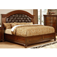 Furniture of America Grandom King Upholstered Platform Bed in Cherry CM7735EK