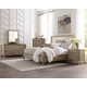 Riverside Sophie 4pc Upholstered Panel Bedroom Set in Natural