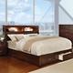 Furniture of America Gerico II King Storage Platform Bed in Brown Cherry CM7291CH-EK