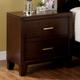 Furniture of America Enrico I 2 Drawer Nightstand in Brown Cherry CM7068N