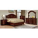 Furniture of America Grandom 4pc Platform Bedroom Set in Cherry