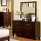 Furniture of America Enrico I 6 Drawer Dresser in Brown Cherry CM7068D