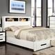 Furniture of America Rutger King Storage Bed in White CM7298EK