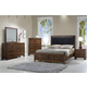Crown Mark Belmont 5pc PU Panel Bedroom Set in Brown