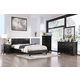 Furniture of America Evans/Spruce 4pc Platform Bedroom Set in Espresso