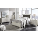 Lonnix 4-Piece Upholstered Panel Bedroom Set in Silver B410