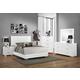 Emma Mason Signature Ofelia 5-Piece Panel Bedroom Set in Glossy White
