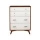Alpine Furniture Flynn Multifunction Chest in Acorn/White 999-05