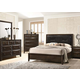 Acme Furniture Brenta 4pc Panel Bedroom Set in Fabric/Walnut