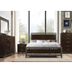 Acme Furniture Charleen 4pc Panel Bedroom Set in Rich Walnut