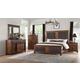 Acme Furniture Vibia 4pc Panel Bedroom Set in Cherry Oak