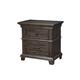 Alpine Furniture Newberry Nightstand in Salvaged Grey 1468-02