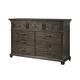 Alpine Furniture Newberry Dresser in Salvaged Grey 1468-03
