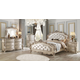 Acme Furniture Gorsedd 4pc Panel Bedroom Set in Antique White