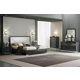 J&M Furniture Monte Leone 4pc Panel Bedroom Set in Grey