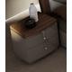 J&M Furniture Napa Night Stand in Walnut/Grey 18214-NS