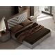 J&M Furniture Napa Queen Panel Bed in Walnut/Grey 18214-Q