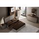 J&M Furniture Napa 4pc Panel Bedroom Set in Walnut/Grey