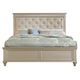 Homelegance Celandine King Panel Bed in Pearl/Silver 1928K-1EK*