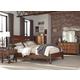 Homelegance Holverson 4pc Platform Bedroom Set in Rustic Brown & Gunmetal