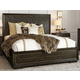 A. R. T. Furniture Woodwright King Eichler Panel Bed in Espresso