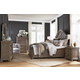 Magnussen Furniture Tinley Park 4pc Shaped Panel Bedroom Set in Dove Tail Grey