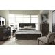 Magnussen Furniture Modern Geometry 4pc Panel Bedroom Set in French Roast