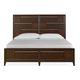 Magnussen Furniture Modern Geometry California King Panel Storage Bed in French Roast