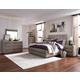 Magnussen Furniture Palisade 4pc Upholstered Bedroom Set with Wood/Metal FB in Sandblasted Sandstone