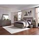 Magnussen Furniture Palisade 4pc Wood/Metal Panel Bedroom Set in Sandblasted Sandstone