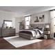 Magnussen Furniture Palisade 3pc Wall Upholstered Bedroom Set with Wood/Metal FB in Sandblasted Sandstone