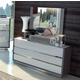 ESF Furniture Mangano 3 Drawer Dresser in White/Gray