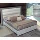 ESF Furniture Mangano Queen Bed in White/Gray