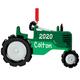 Personalized Tractor Ornament, One Size
