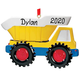 Personalized Dump Truck Ornament, One Size