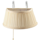 Over the Bed Light with Cream Shade, One Size