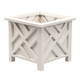 White Chippendale Planter, One Size