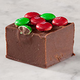 Chocolate Fudge with Holiday M&Ms