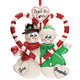 Personalized Candy Cane Snow Couple Ornament, One Size