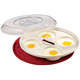 Microwave Four Egg Poacher, One Size, White