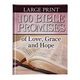 Large Print 100 Bible Promises of Love Grace and Hope, One Size