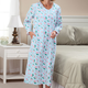 Floral Flannel Gown, One Size