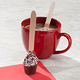 Peppermint Hot Chocolate On A Spoon